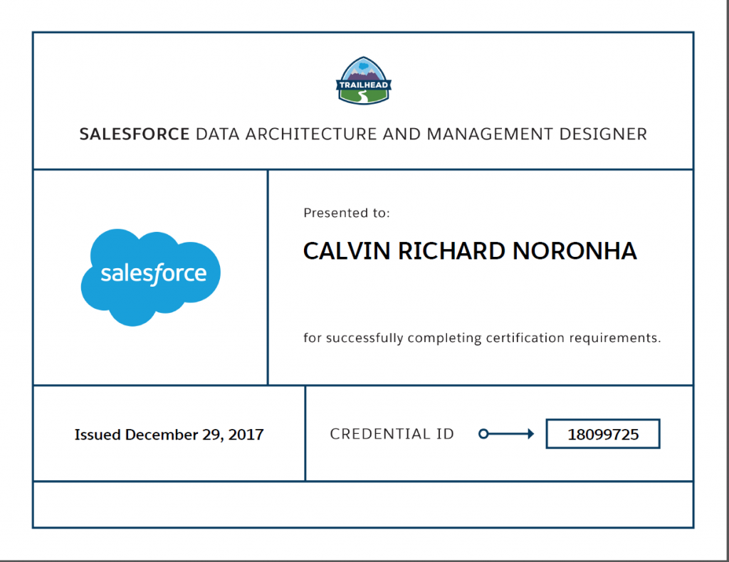 How to study for and pass the salesforce certified data architecture my shiny new cert baditri Choice Image